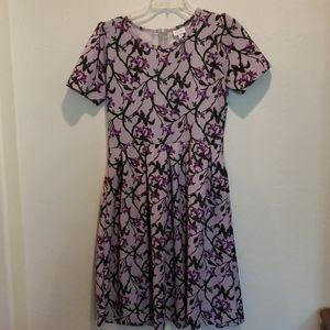Lularoe Dress Amelia Purple Dress Size XL